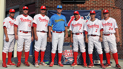 From L-R: S.Valle, D. Ruf, J. Rodriguez, D. Wathan, C. Hernandez, T. Hanzawa, and J. Friend.